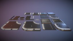 Sci Fi Floors Kit 1 3D Model