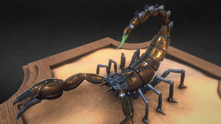 Mechanical Emperor Scorpion 3D Model