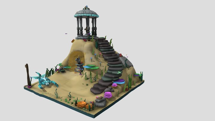 Teeming Atlantis Garden - Natalie AS1 3D Model