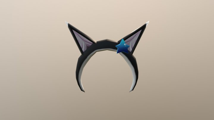 Neko Headband 3D Model