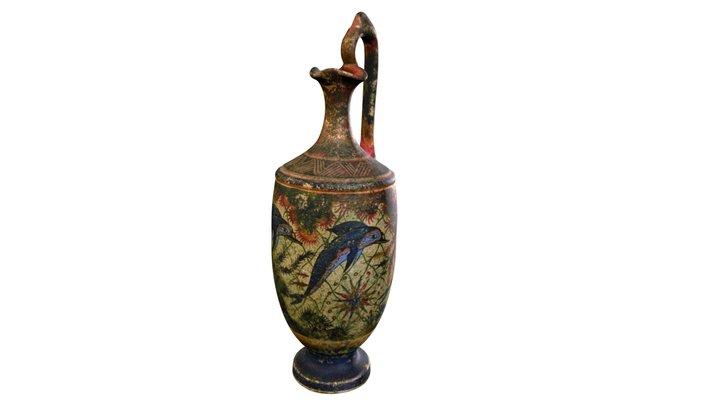 Coloured Terracotta Vase 3D Model