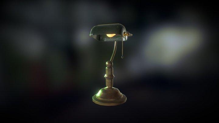 1940s Style Desk Lamp 3D Model