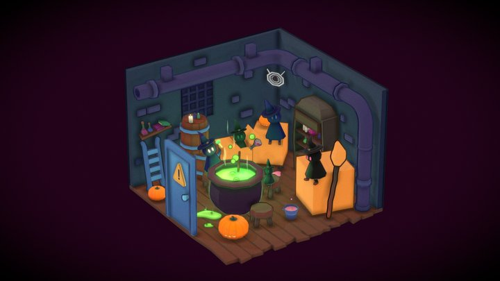 The Sneaky Janitor Witches 3D Model