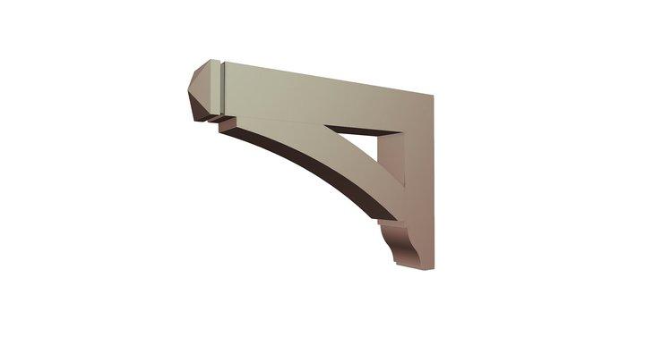 Wood Bracket 01T5 33 x 24 x 5 1/2 3D Model