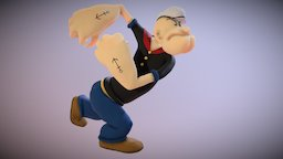 Popeye The Sailor 3D Model