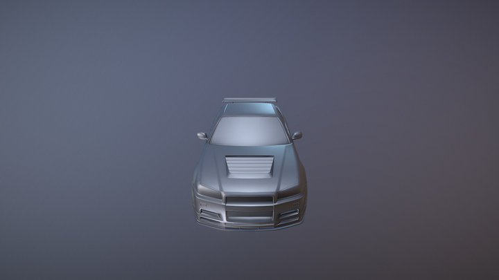 GTR R34 Modified 3D Model