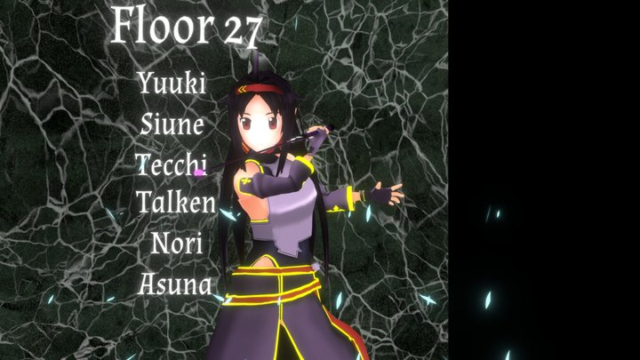 Yuuki(SAO) 3D Model