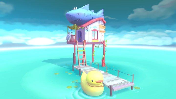 Fish Hunter House 3D Model