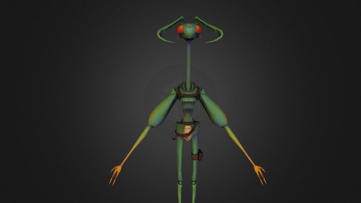 Insectoid Character 3D Model