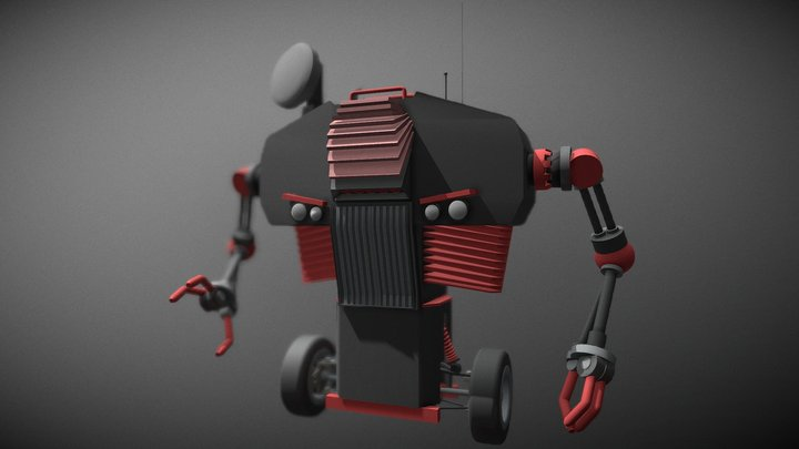 Giro Bot (unfinished) | Low Poly | Free 3D Model