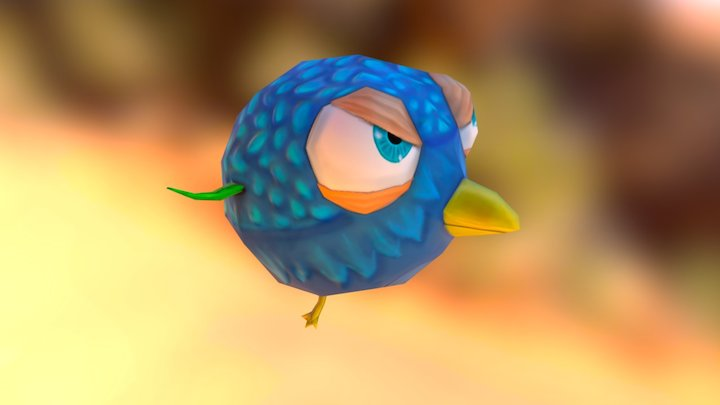 Angry Birdy 3D Model