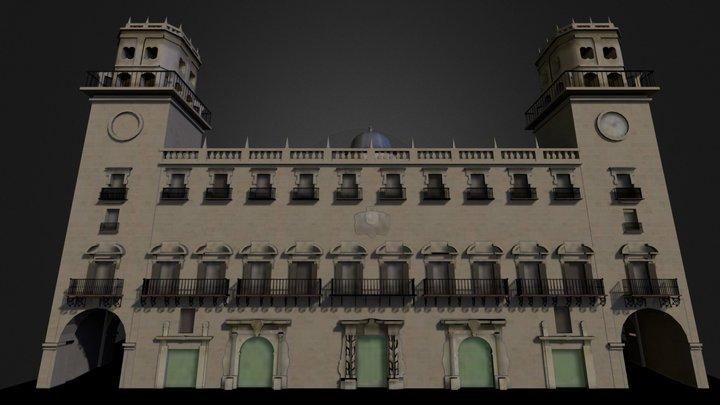 Ayuntamiento, Alicante (Spain) 3D Model