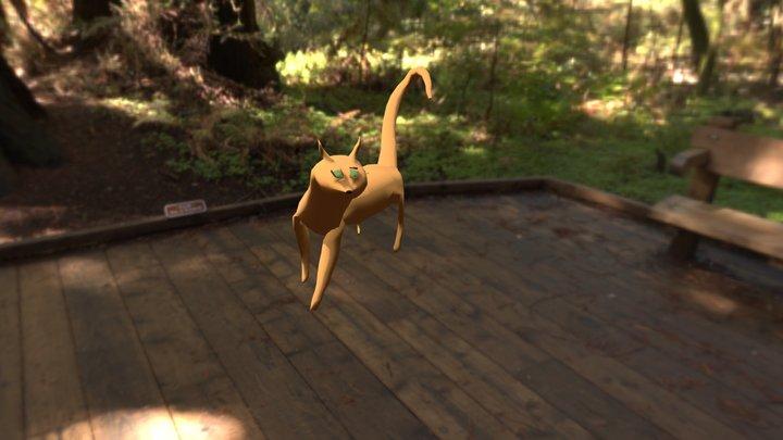 Gatto con rigging 3D Model
