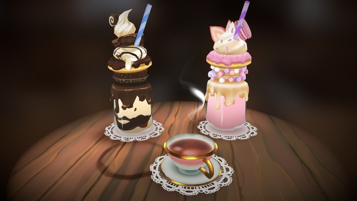 The Three Sisters: A #FoodChallenge Entry 3D Model