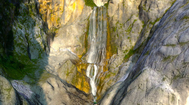 Waterfall in Slovenia 3D Model