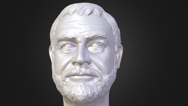 Sean Connery 3D printable portrait 3D Model