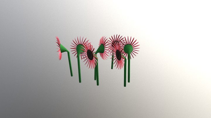 Flowerbed 2 3D Model