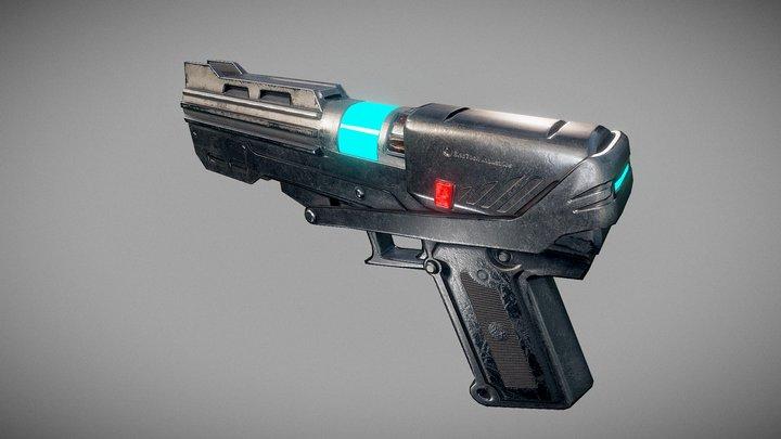 Star Wars DC-15s blaster pistol 3D Model