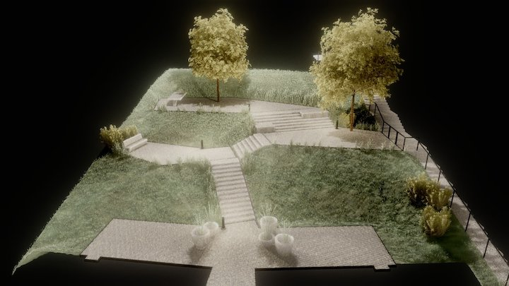 Terraced Garden in Fischbach 3D Model