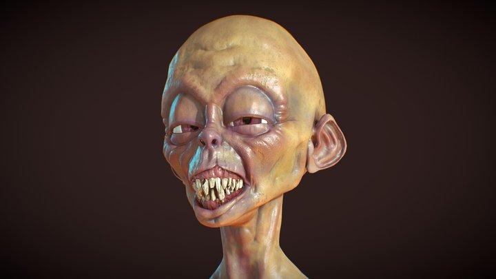 Sleepyhead Gnome 3D Model