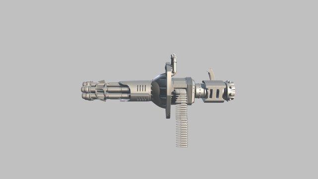 Hayter Gatling-05 FBX WiP 3D Model