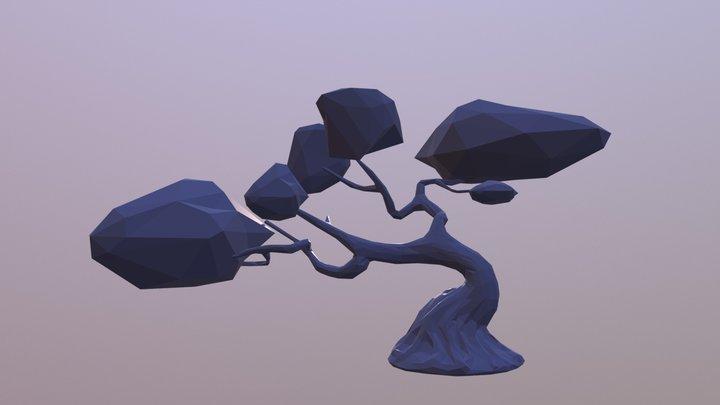 Bonsai Crystal Treetops 3D Model