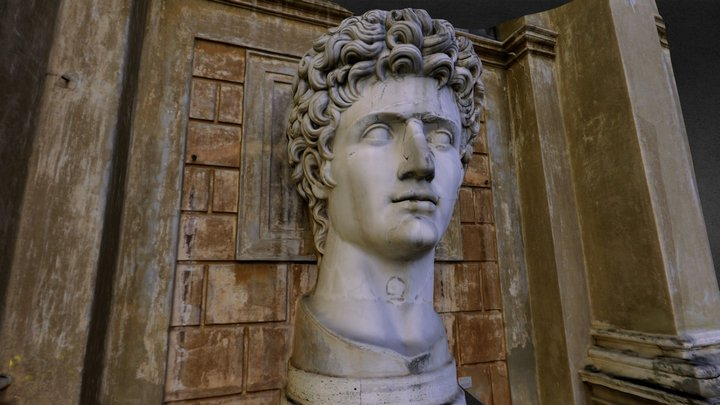 Head of Augustus 3D Model