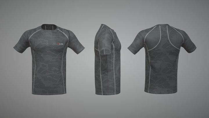 U.CR+ T-SHIRT 3D Model