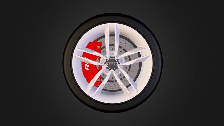 Audi R8 Wheel 3D Model