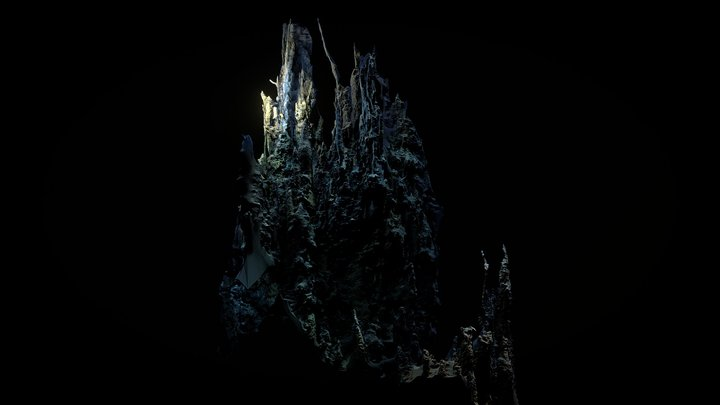 Low Poly Deep Sea Hydrothermal Vent #4 3D Model