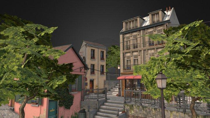 Montmartre Paris Diorama | Tom van Asten 3D Model