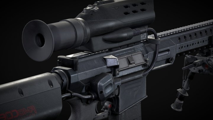 Sniper rifle TrackingPoint's M900 3D Model