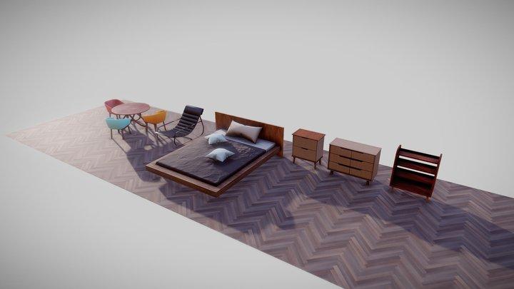 Modern Interior Pack 3D Model