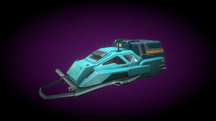 Sci-fi Ambulance 3D Model