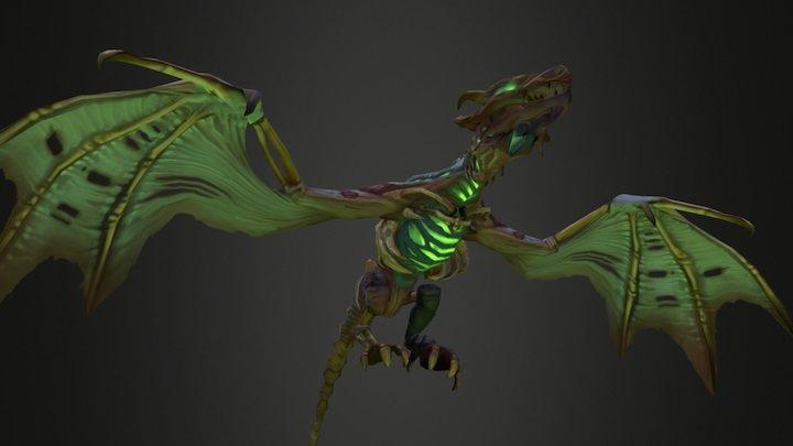 Bone Dragon Flight Animations 3D Model