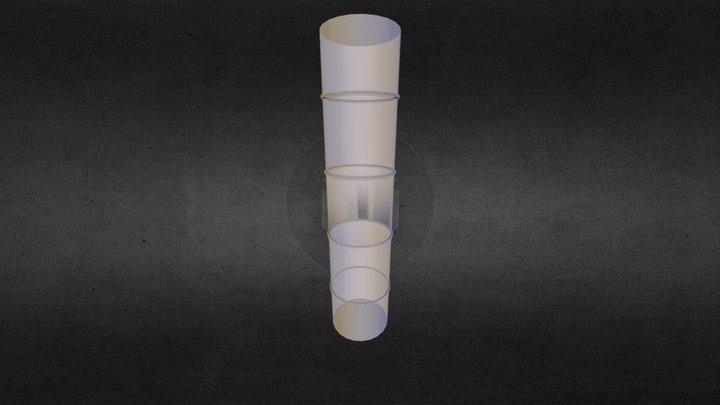 Flex Connector w/ 4 Center Rings 3D Model
