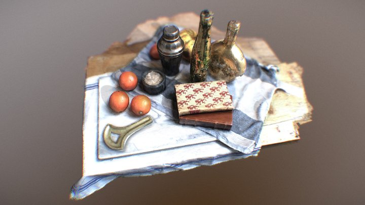 Still life (ScandyPro with iPhone X) 3D Model