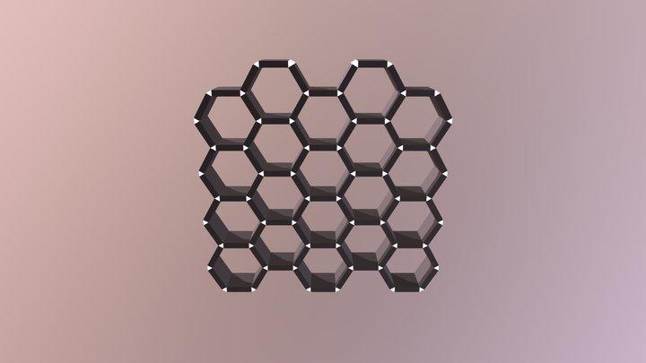 Honeycomb Bookshelf 3D Model