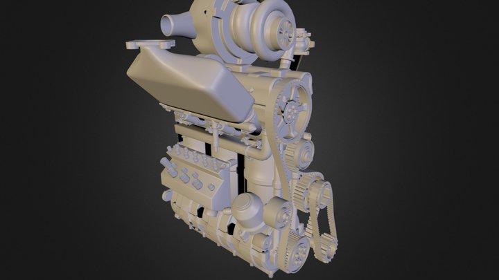 Nissan DIG-T R Engine 3D Model