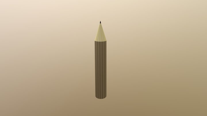 BASIC Lowpoly Pencil 3D Model