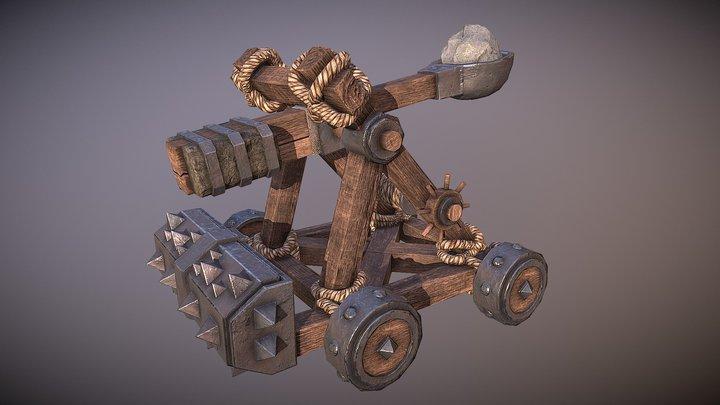 Catapult 3d game asset 3D Model