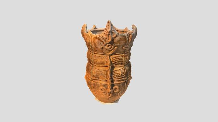 把手状装飾付波状口縁深鉢(茅野市棚畑遺跡) 観察記録3Dモデル 3D Model
