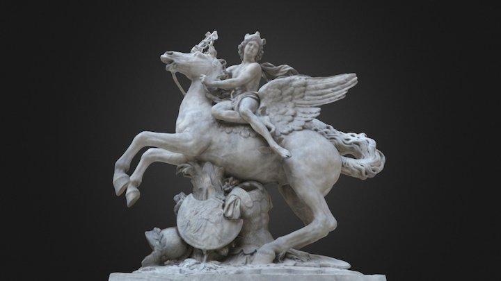 Mercure monté sur Pégase - Louvre Museum 3D Model