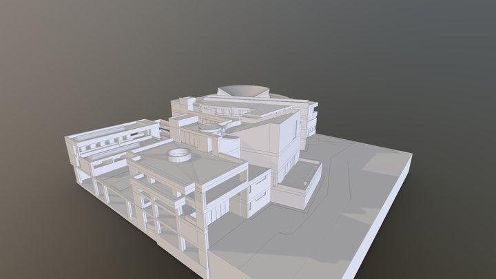 CENTRO CULTURAL UNIVERSITARIO ROGELIO SALMONA 3D Model
