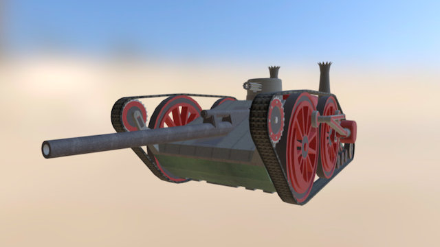 "Steampunk Tank ""Centipede"" 3D Model"