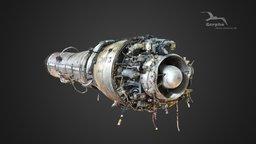 Marbore jet engine (3D photo) 3D Model