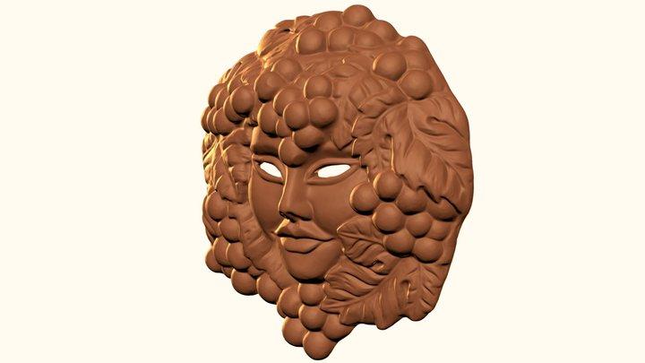Terracotta Bacco Mask 3D Model