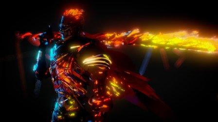 Soul Of Cinder - Dark Souls 3 Boss Tilt Brush 3D Model