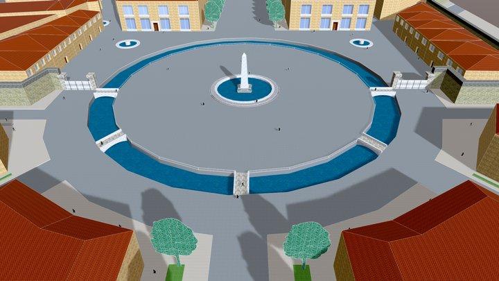Projet non retenu pour la Rotonde (Cauvet,1781) 3D Model