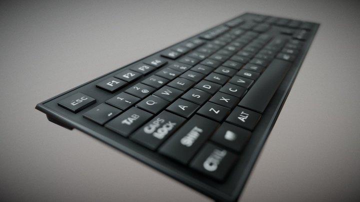 Bluetooth keyboard 3D Model